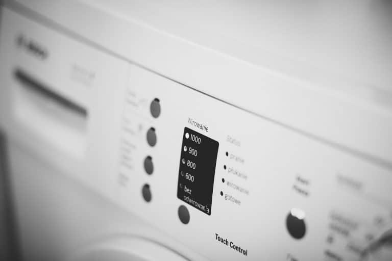 Nahaufnahme Waschmaschine