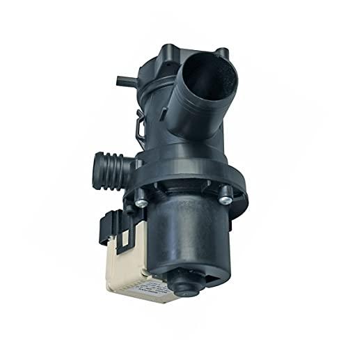 Ablaufpumpe mit Pumpenstutzen und Filter Magnettechnikpumpe 30 Watt Laugenpumpe Pumpe Waschmaschine wie Whirlpool/Bauknecht 480111100786