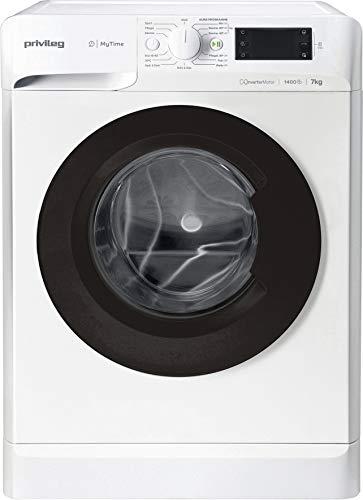 Privileg PWF MT 71483 Waschmaschine Frontlader/ 1351 UpM/ 7 kg/Startzeitvorwahl/Kurzprogramme/Eco-Motor/Wolle-Programm/Mischwäsche-Programm, Weiss