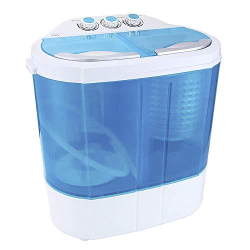 Display4top 3,6 KG Waschmaschine Mini Waschmaschine - Europäischer Standardstecker(Blau)