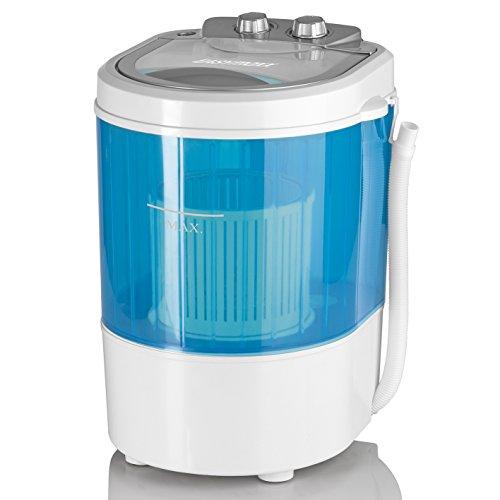 EASYmaxx Mini-Waschmaschine ideal zum Waschen unterwegs | Kompakte Waschmaschine mit Wasch- und Schleudertimer, bis 3kg Wäsche | Leicht zu verstauen und transportieren, ideal für Camping und Reisen